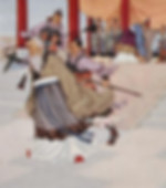 General and Calligrapher Yan Zhenqing of Tang Dynasty Got Captured and Sacrificed