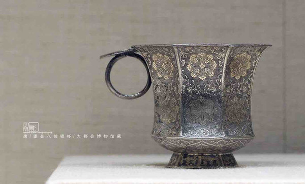 Gilding Silver Cup of the Tang Dynasty