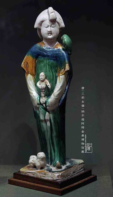 Female Tri-coloured Glazed Pottery (Tang San Cai) — Nelson-Atkins Museum of Art