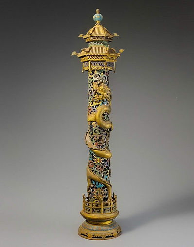 Dragon Pan Long on Incense Tube of the Qing Dynasty