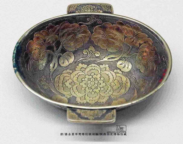 Gilding Silver Wine Cup (Yu Shang), One of Valuable Treasures that Were Buried By A Noble of Tang In A Hurry Before They Were Forced to Escape