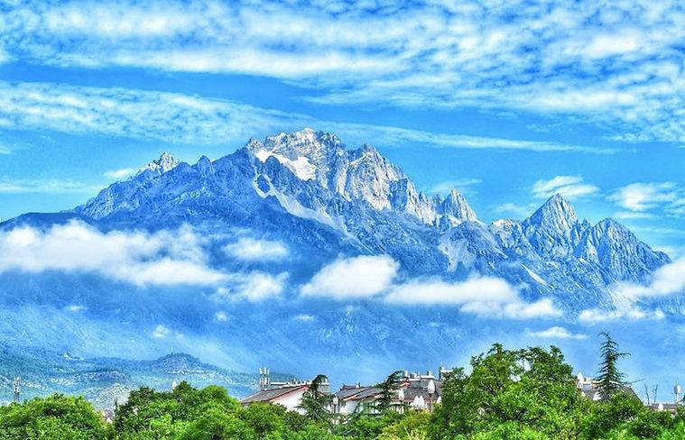 Old Town of Lijiang Under Yulong Snow Mountain of Yunnan Province of China
