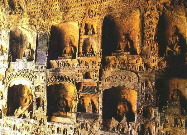 Stone Carving Statues and Inscriptions of Longmen Grottoes