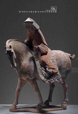 Painted Pottery of A Noble Woman Riding on A Horse — Art Institute of Chicago