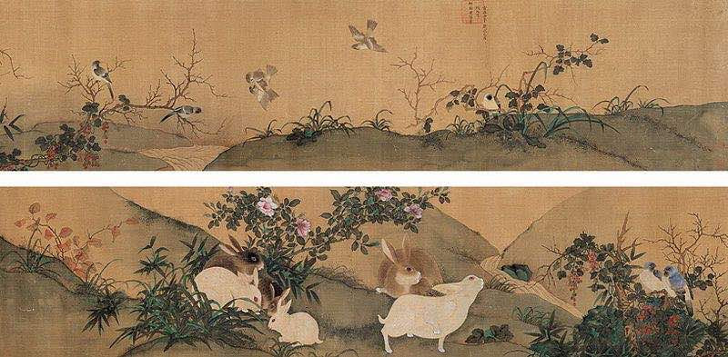 Flowers, Birds, and Rabbits (Yu Lin Huang Quan Hua Niao Juan)