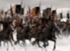 Strong troops of Han Dynasty in battlefiled