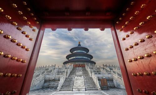 Cinnabar Red Gate of Forbidden City