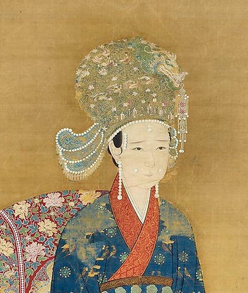 Empress Zhu (1102 — 1128) the Wife of Emperor Qinzong of Song, Painted by Court Artist of the Song Dynasty