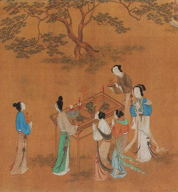 Women Praying on Qixi Festival