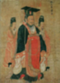 Portrait of Cao Pi the Emperor Wen of Wei, By Artist Yan Liben of the Tang Dynasty