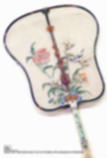 Exquisitely Decorated Weave Fan Produced Under Jiaqing Emperor's Reign