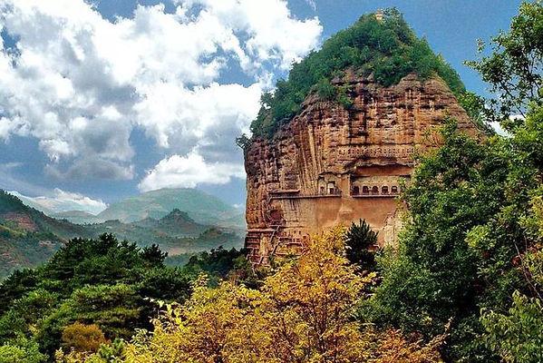 Maiji Mountain Grottoes in Tianshui City of Gansu Province