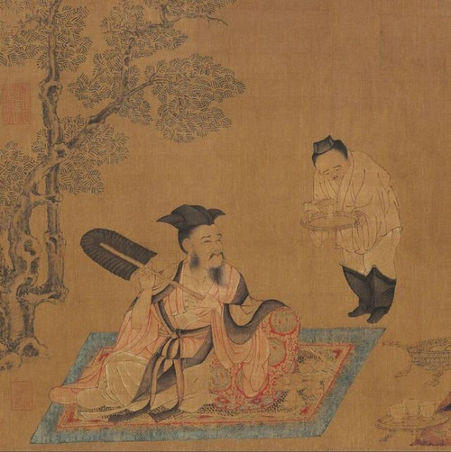 "Ruan Ji in the ""Seven Sages in the Bamboo Forest"" (also named Gao Yi Tu), by Artist Sun Wei of the Tang Dynasty (618 — 907)"