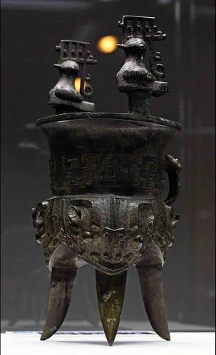 Bronze Wine Warmer (Jia) — Sen-oku Hakuko Kan