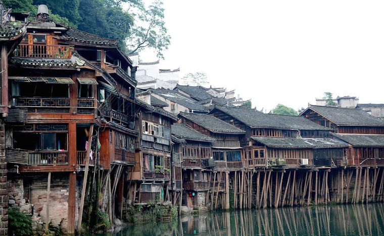 Old Town of Phoenix or Fenghuang in Hunan