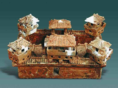 Pottery Model of Noble's Fortress (Wu Bao) in the Three Kingdoms Era