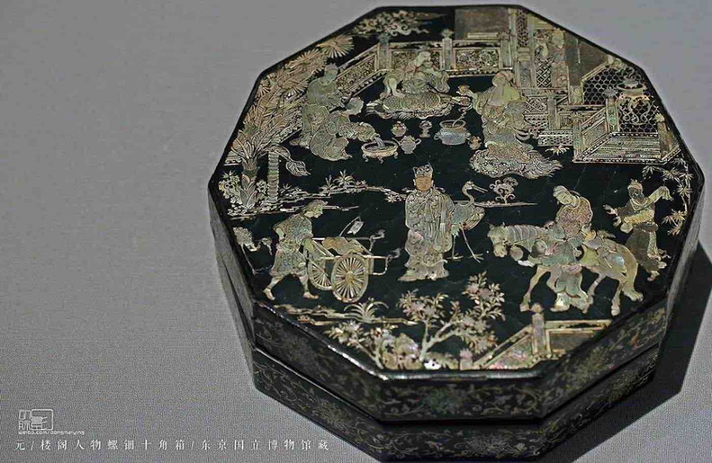 Mother-of-Pearl Inlaid Lacquer Box of the Yuan Dynasty — Tokyo National Museum