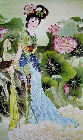 Chinese Flower Goddess of Lotus
