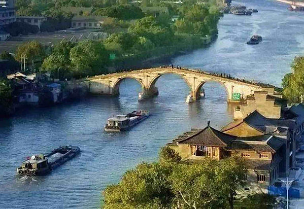 Part of the Grand Canal that was Built under Emperor Yang of Sui's Governance