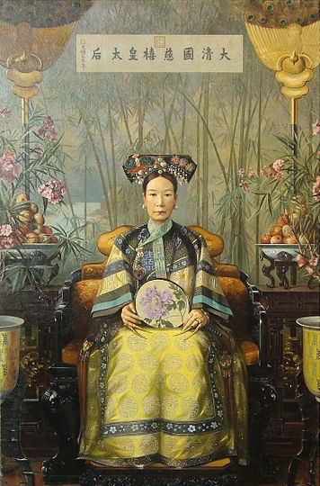 Painting of Empress Dowager Cixi, By Hubert Vos in 1905