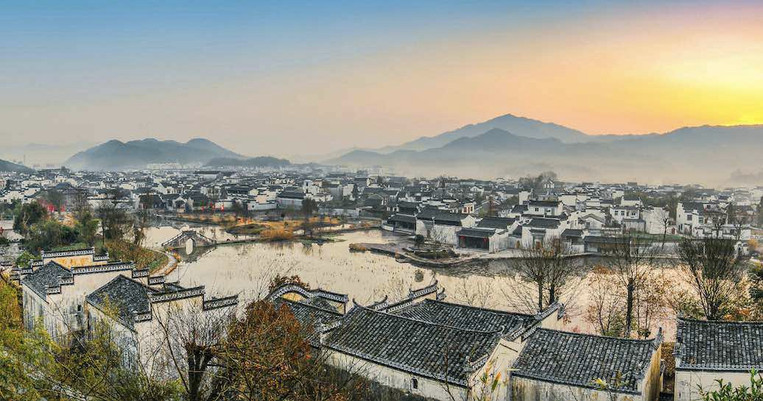 Huizhou Ancient City in Anhui Province of China