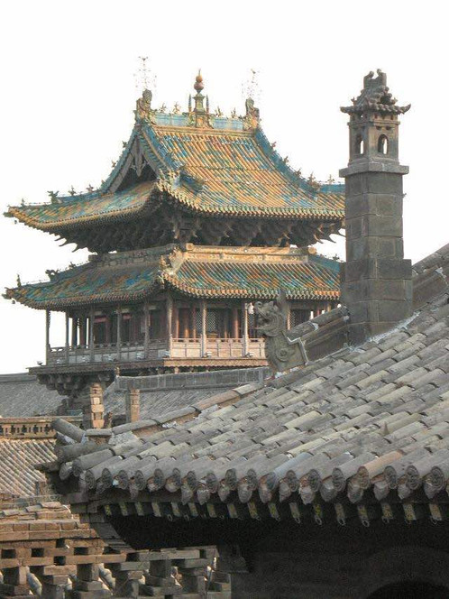 Exquisite Roofs of Building Complex of Pingyao
