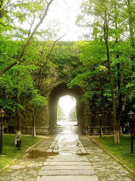 Ruins of Gate of the Forbidden City of Nanjing