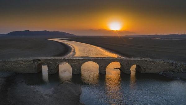 Stone Arch Bridge of Ming Dynasty on Poyang Lake