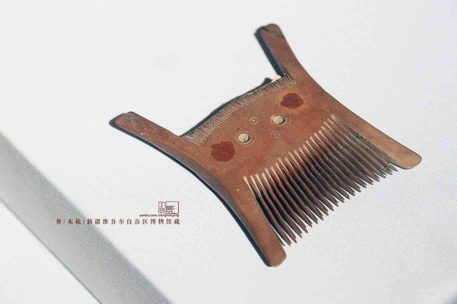 Wooden Comb of the Tang Dynasty (618 — 907) — Xinjiang Museum (Photo by Dongmaiying)