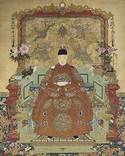 Portrait of Tianqi Emperor Zhu Youjiao, By Court Artist of the Ming Dynasty