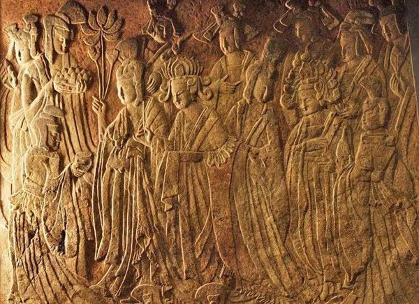 Reliefs of Empress Wenzhao Worshiping Buddha Used to in Central Binyang Cave — Nelson-Atkins Museum of Art