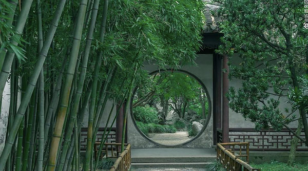 Arch Door and Idyllic View of the Lingering Garden, Photo from Official Site of Lingering Garden.