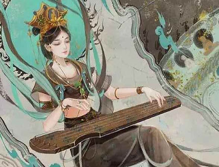 Ancient Chinese Traditional Instrument Qin