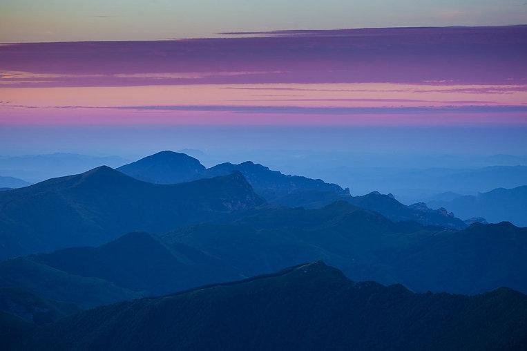 Sunset Glow of Mount Wutai