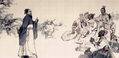 Mencius and his students