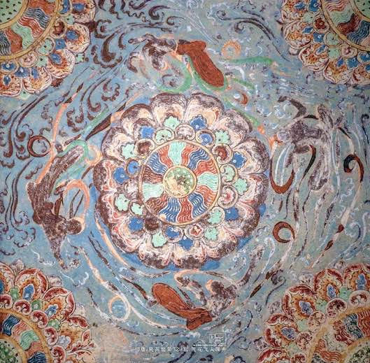 Roof Decoration (618 — 712) of the Mogao Cave 329