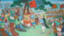 Emperor Liu Xiu of Han Dynasty joining an army