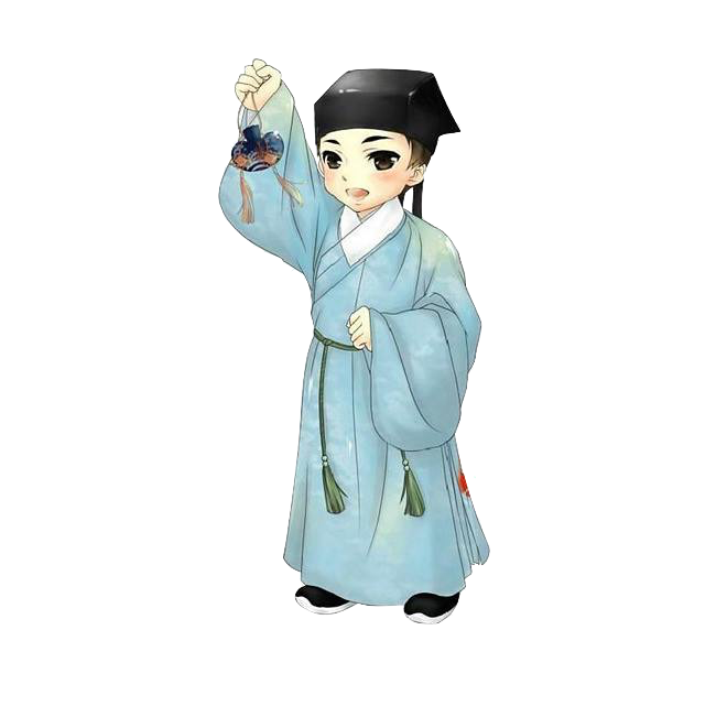 Cyan Robe of Taoism Religion