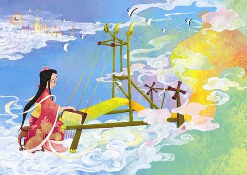 Vega Goddess, named Qi Jie, Qi Niang, or Zhi Nv in Chinese folklore