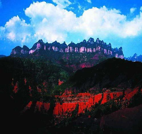 Prototype of Mountain of Fire outside Mount Xichengof Mythology in China