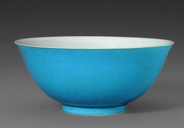 Exquisite Malachite Green Glaze Bowl Produced Under the Reign of Zhengde Emperor Zhu Houzhao