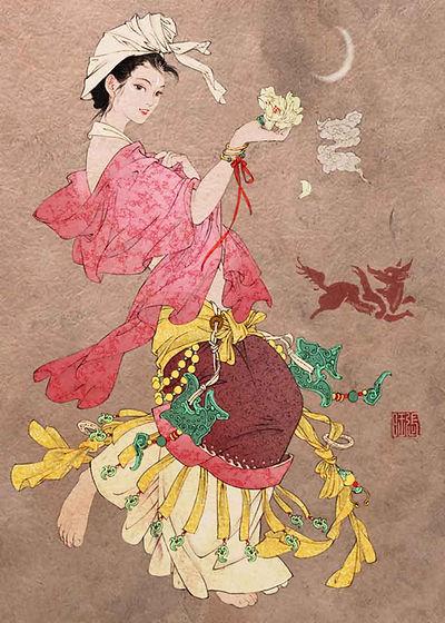 Huli Jing Transformed Beautiful Woman