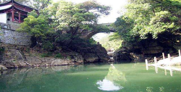 Ancient Guanyin Bridge on Mount Lu.