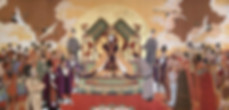 Empress Wu Zetian of Tang Dynasty Meeting with Forign Diplomats