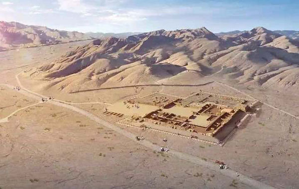 Relic Site Xuanquanzhi of the Han Dynasty, A Post Station and State Guesthouse Along with the Silk Road