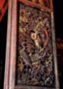 Exquisite Carved Door of A Confucian Temple (Wen Miao) Built During Hongzhi Emperor's Reign