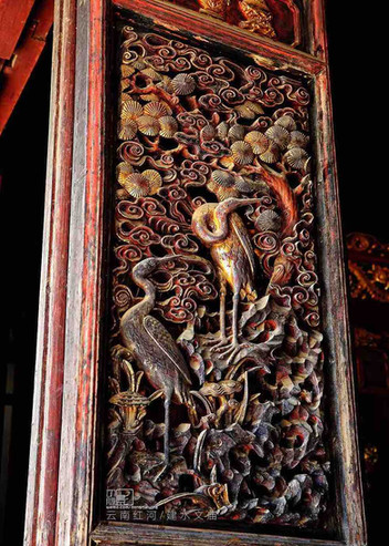 Exquisite Carved Door of A Confucian Temple (Wen Miao) Built During Hongzhi Emperor's Reign