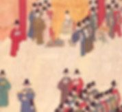 Emperor Zhu Yuan Zhang or Hong Wu of Ming Dynasty Meeting with Ministers