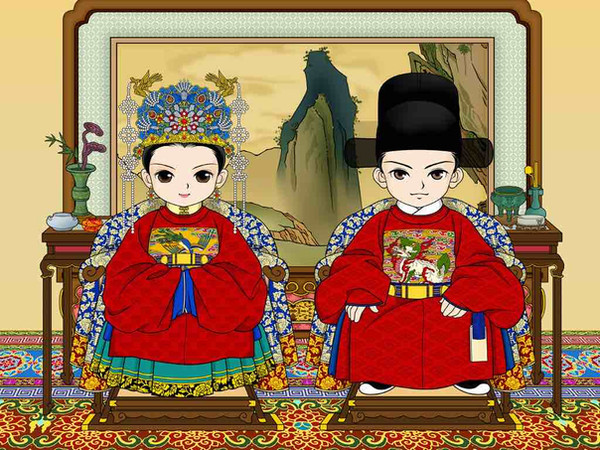 Whole Sets of Costume (Guan and Fu) of High Rank Official and His Wife of the Ming Dynasty (1368 — 1644)