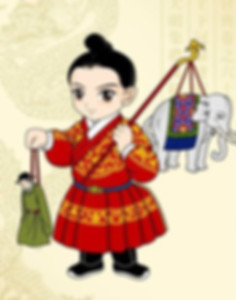 Hair and Costume of Child (Prince) of the Ming Dynasty (1368 — 1644)